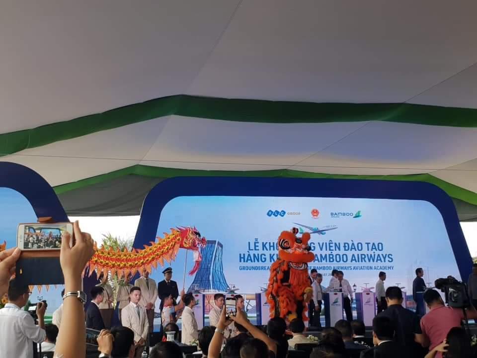 FLC khởi công Học Viện Hàng Không BambooAirway liền kề Nhơn Hội Newcity